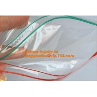China Double zipper tracks LDPE clear plastic ziplock bag plastic ziplock freezer bag, double track ziplock bag for grocery, w on sale