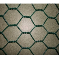 Quality low carbon Plastic Coated Chicken Wire , HH Galvanised Hexagonal Wire Netting for sale
