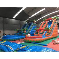 China Colorful Coconut Tree Wet And Dry Inflatable Slide For Advertising on sale