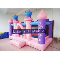China Pink Commercial Princess Bouncy Dream Houses For Toddler / Kids Soft Play on sale