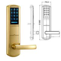 Buy cheap High Security Zinc Alloy Door Handle Lock Smart Key Password intelligent Door from wholesalers