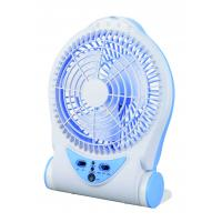 Quality Blue Rechargeable Battery Operated Table Fan , Portable Charging Fan for sale
