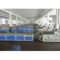 Quality WPC PVC Skirting Board Production Line , Double Screw Extruder for sale