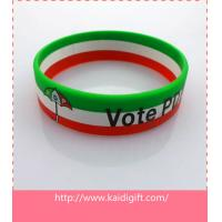 PDP three layers silicone wristband bangle with printed logo