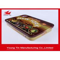 Quality Rectangle Chocolate Tin Boxes , Full Color Chocolate Gift Boxes With Embossed Hinged Cover for sale