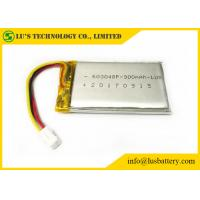 China LP603048 Rechargeable Lithium Polymer Battery 900mah To 1100mah Capacity on sale