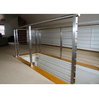 Quality Round / Square Post Stainless Steel Railing Rod Bar Optional For Balcony / Staircase for sale