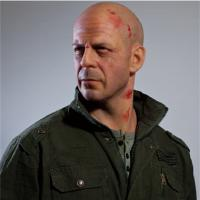 Buy cheap High Relastic Celebrity Wax Figures Bruce Willis Die Hard 4.0 from Wholesalers