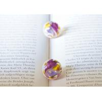 Quality Forget-Me-Not Purple Earing Stud Cute Korea Style Women Loved Ball Earrings With Best Quality for sale