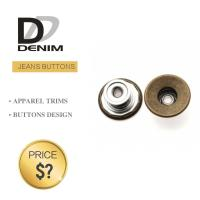 Quality Classic Brass Denim Metal Buttons , Denim Jeans Button Waistcoat Studs for sale
