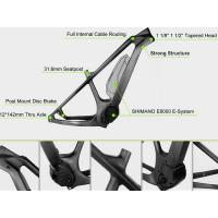 China 29er Mid Drive Electric Carbon Bike Frame Glossy Surface With Disc Brake on sale