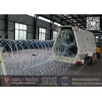 Quality Mobile Security Razor Barrier Trailer | Razor Wire Rapid Deployment Barrier for sale