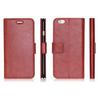 Quality PU Blank Wallet Case / Apple Iphone Leather Cases Credit Card Holder, Stand Cover Case for sale