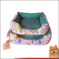 Dog beds online Canvas fabric dog beds with flower printed China manufacturer
