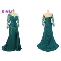 Quality Formal Mother Of The Bride Gowns , Emerald Green Mother Of The Bride Dresses for sale