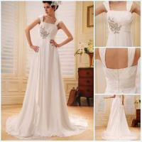 Quality Double Straps Ruffled Appliqued Beaded Sauqre Neckline Prom Dresses 2012 (BLF-040) for sale