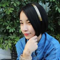 Buy Gold Glitter Fashionable Hair Tattoo for Girls at wholesale prices