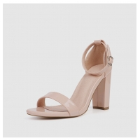 Quality ZM006 European And American New Style With Thick Heel Suede Super High Heel Solid Color Fashion Sandals Plus Size Round for sale