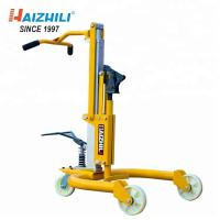 China Hydraulic Drum Lifting Trolley , Powder Coating Surface 420kg Manual Oil Drum Truck on sale