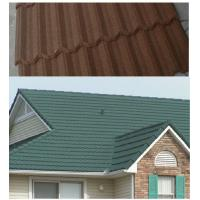 Quality stone chips Colour Steel Roof Tiles zinc coated , EN10142 Corrugated Metal roofing for sale