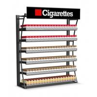 Quality Durable Cigarette Pusher Pack Display Rack , Wall Mount Tobacco Display Rack for sale