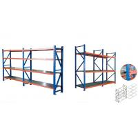 Quality Blue And Orange Industrial Warehouse Storage Racks Vertical Adjustable Pallet Racking System for sale