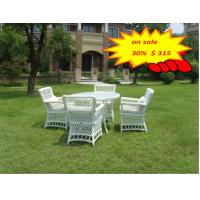 Quality 5pcs Rattan Garden Dining Sets / Outdoor Rattan Garden Furniture Sets for sale
