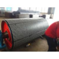 Quality coal mining ceramic lagging for conveyor head drum for sale