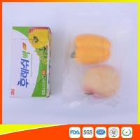 Buy Transparent Fruit Packaging Zip Top Freezer Bags Plastic HDPE / LDPE Material at wholesale prices