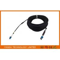 China Duplex DLC LC Fiber Optic Patch Cord Leads 5.0mm 2 Core Optical Cable Assembly on sale
