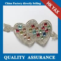 Quality Double Heart Beaded Patches,New Fashion Patched Beads,Hotfix Beads Patches for Sale for sale