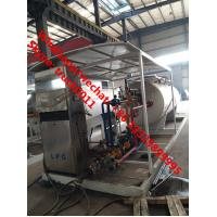 Quality cheapest price skid lpg gas tank with auto lpg gas dispenser for sale, CLW brand 10m3 skid lpg gas filling station for sale