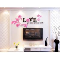 Quality high quality factory cost Wall decorations love stickers 3d acrylic wall decal for sale