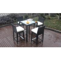 Quality Luxury All Weather Resin Wicker Bar Set For Home Patio / Balcony for sale