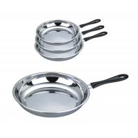 Quality Food Grade 410 # Stainless Steel Non Stick Frying Pan Surface Mirror Polish for sale