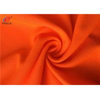 Quality Flame Retardant Fluorescent Material Fabric Weft Knitted Polyester Fabric For Uniform for sale