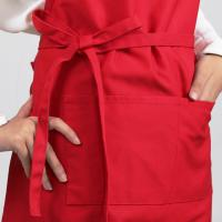 Quality High quality durable polyester cotton red criss cross bib apron for sale