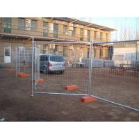 Australia temporary fence with opening gate installed in the factory yard.
