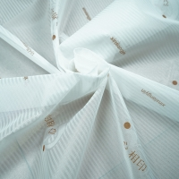 Quality TUV White 100% Polyester Jacquard Mattress Fabric 70gsm Easy Washing for sale