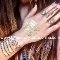 Quality High quality silver foil metallic temporary tattoo flash 3d tattoo sticker wholesale for sale