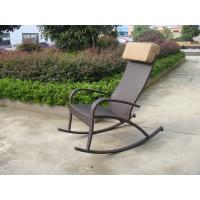 Quality Hand-Woven Brown Resin Wicker Rocking Chair For Outdoor Garden for sale