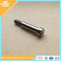 Customized Gr5 alloy titanium slotted bolts