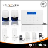 Quality LCD Touch keypad GSM home security alarm system with checking door's status for sale