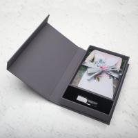 China Grey Card Board Paper Magnetic Box Packaging Creative USB Gift Card on sale