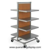 China garment rack with wooden mdf shelving on sale