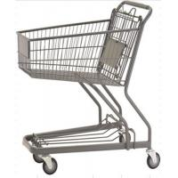 Quality 70L Custom Shopping Basket Trolley Powder Coating Wire Basket Cart for sale