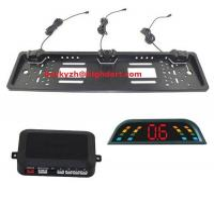 Quality CE,FCC 3 Parking Sensors European Car license plate frame parking sensor for sale