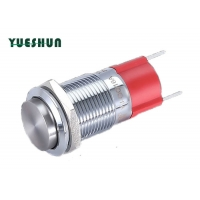 Quality High Round Head 2 Pin Terminal IP67 10A Push Button Switch for sale