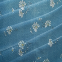 Quality Sky Blue 43D Jacquard Knitted Fabric 210cm-220cm Adjustable width for sale
