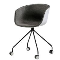 China Simple Classic Plastic Rolling Desk Chair Multi Colors Available on sale